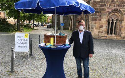 FREIE WÄHLER Fritzlar verteilen Alltagsmasken